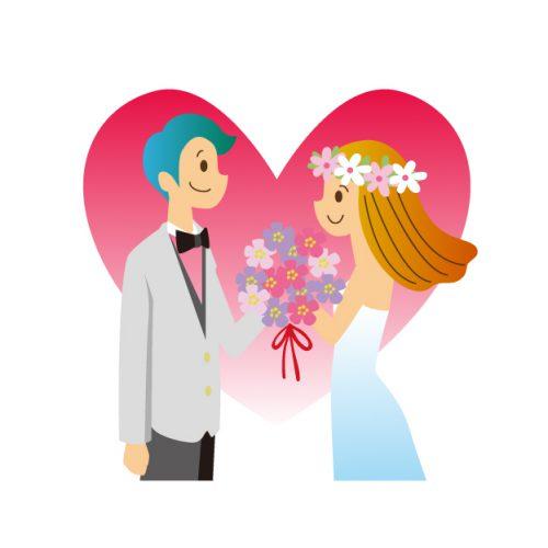 結婚式を表すイラスト